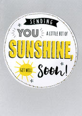 Get Well Soon Sunshine Greeting Card