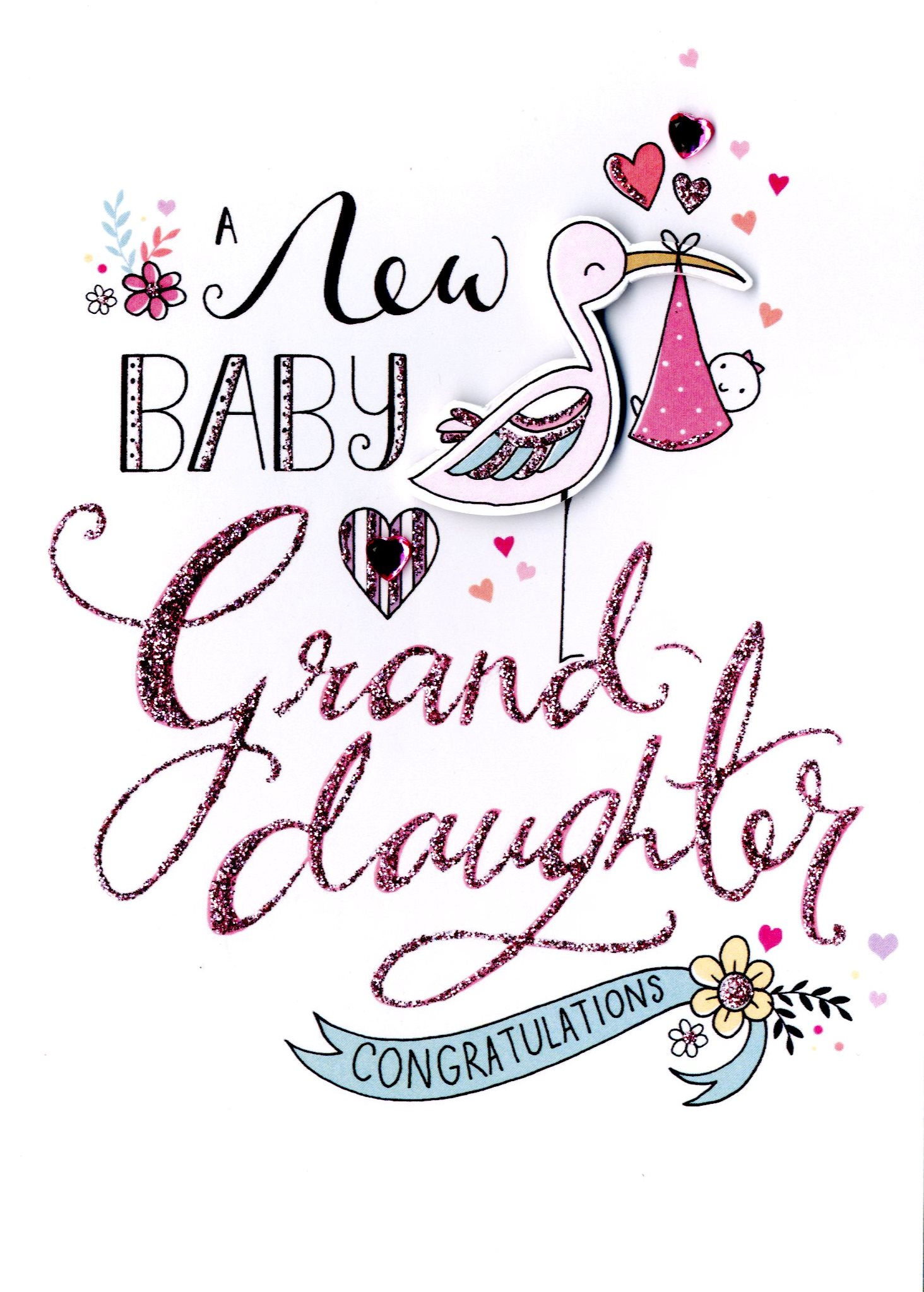 New baby granddaughter greeting card cards love kates new baby granddaughter greeting card m4hsunfo
