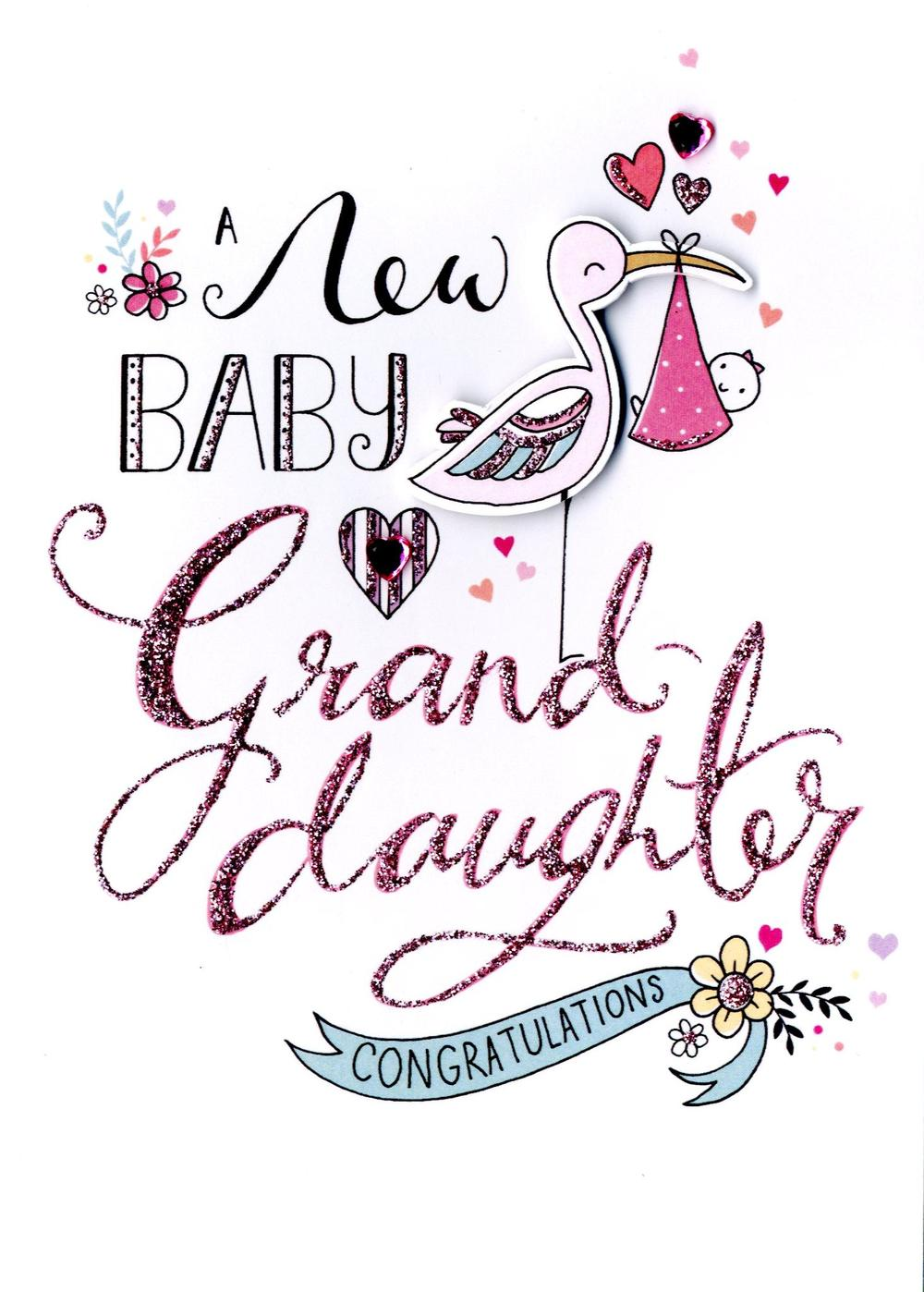 New Baby Granddaughter Greeting Card