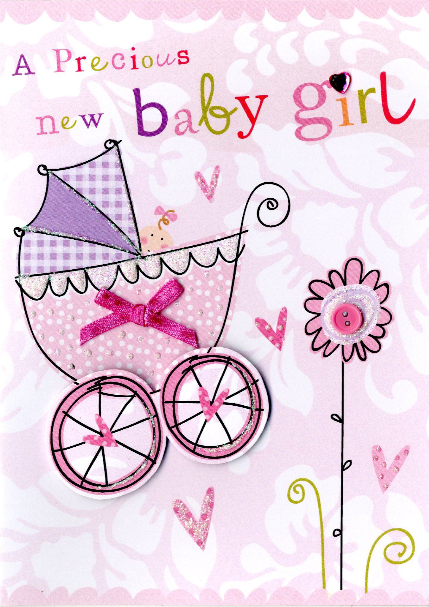 New baby girl greeting card cards love kates new baby girl greeting card kristyandbryce Images