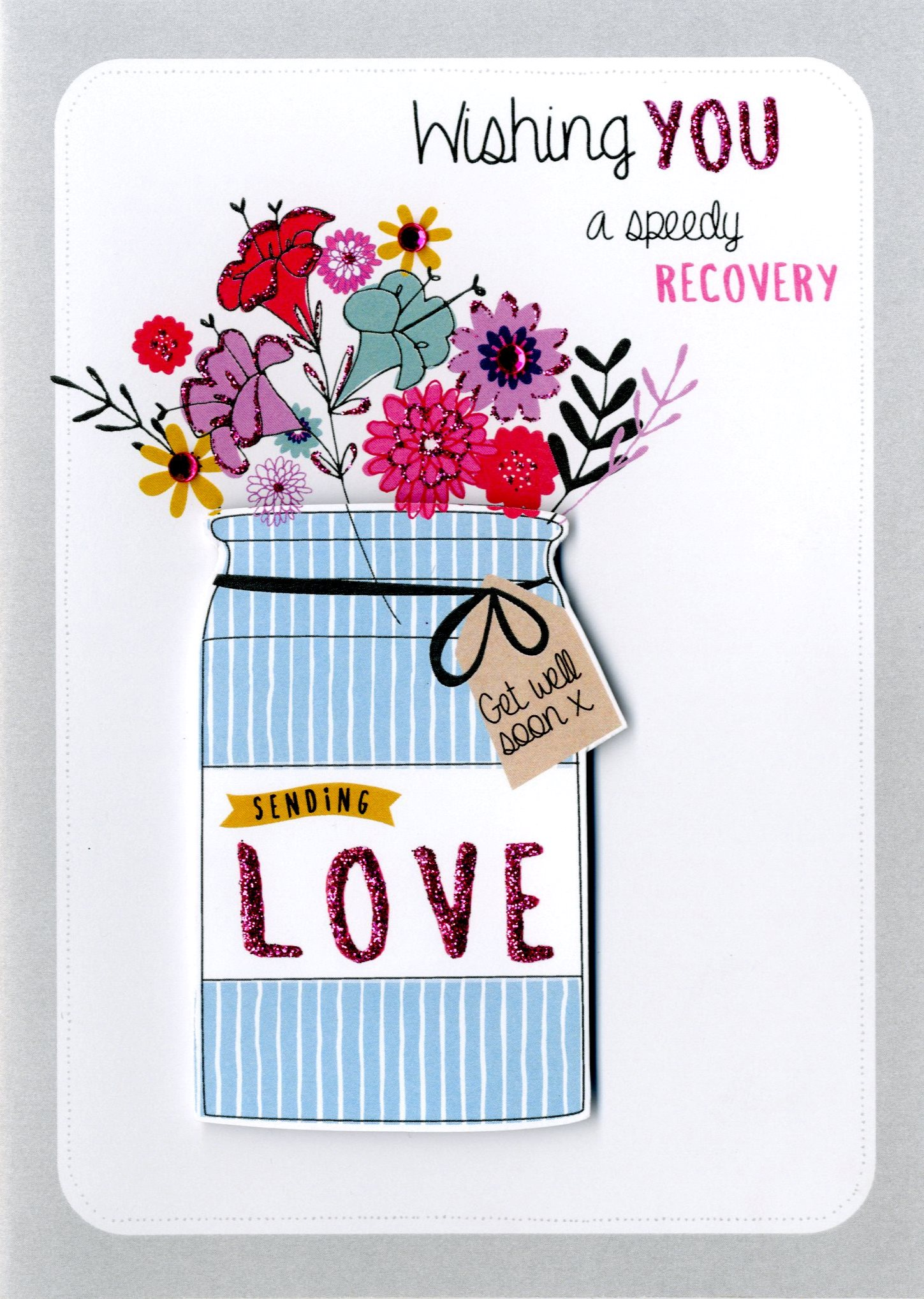 Speedy Recovery Get Well Greeting Card Cards Love Kates