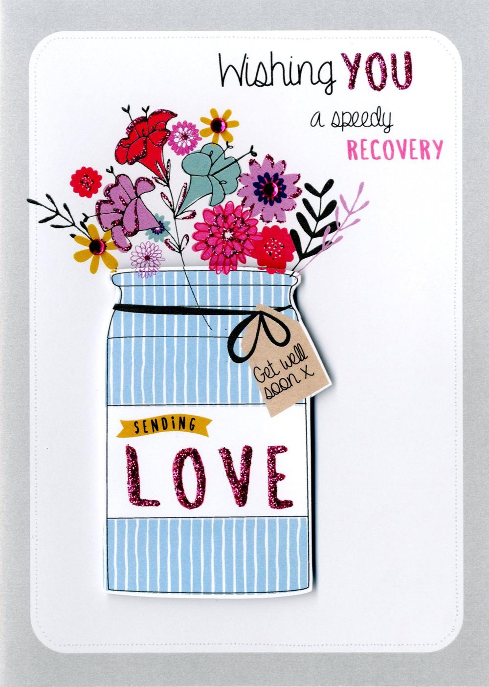 Speedy Recovery Get Well Greeting Card