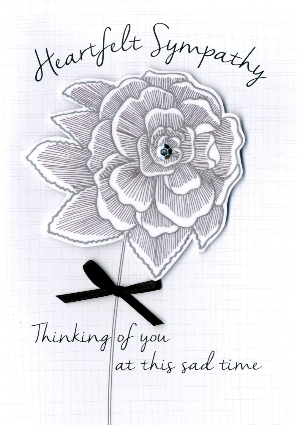 Heartfelt Sympathy Greeting Card