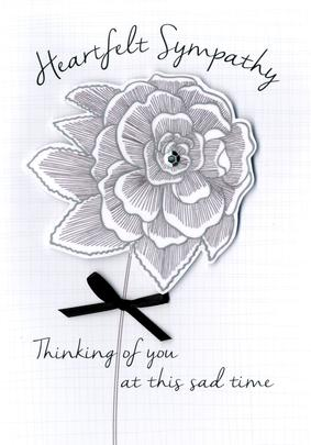 Heartfelt Sympathy Greeting Card