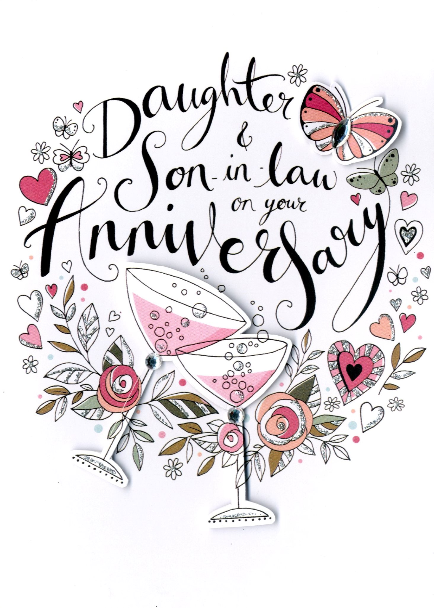 Daughter Son In Law Anniversary Card