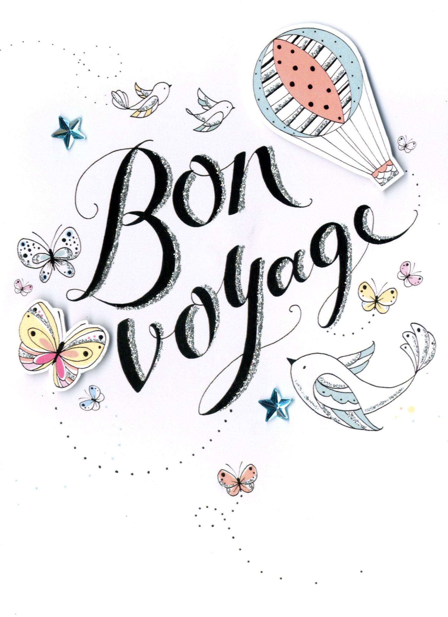 Bon voyage greeting card cards love kates bon voyage greeting card kristyandbryce Image collections