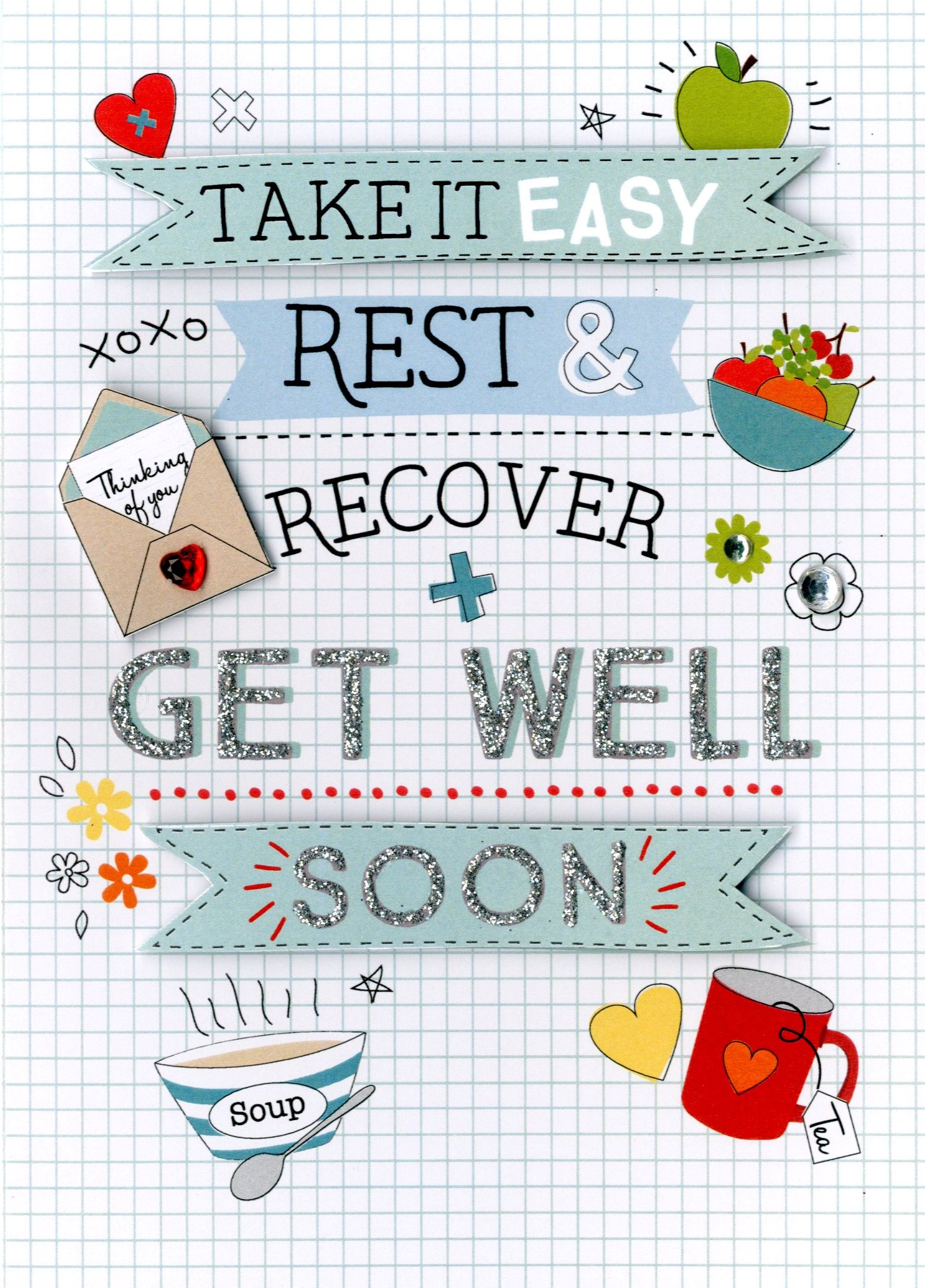 Get Well Soon Greeting Card Cards