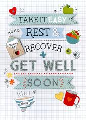 Speedy recovery get well greeting card cards love kates sentinel get well soon greeting card m4hsunfo