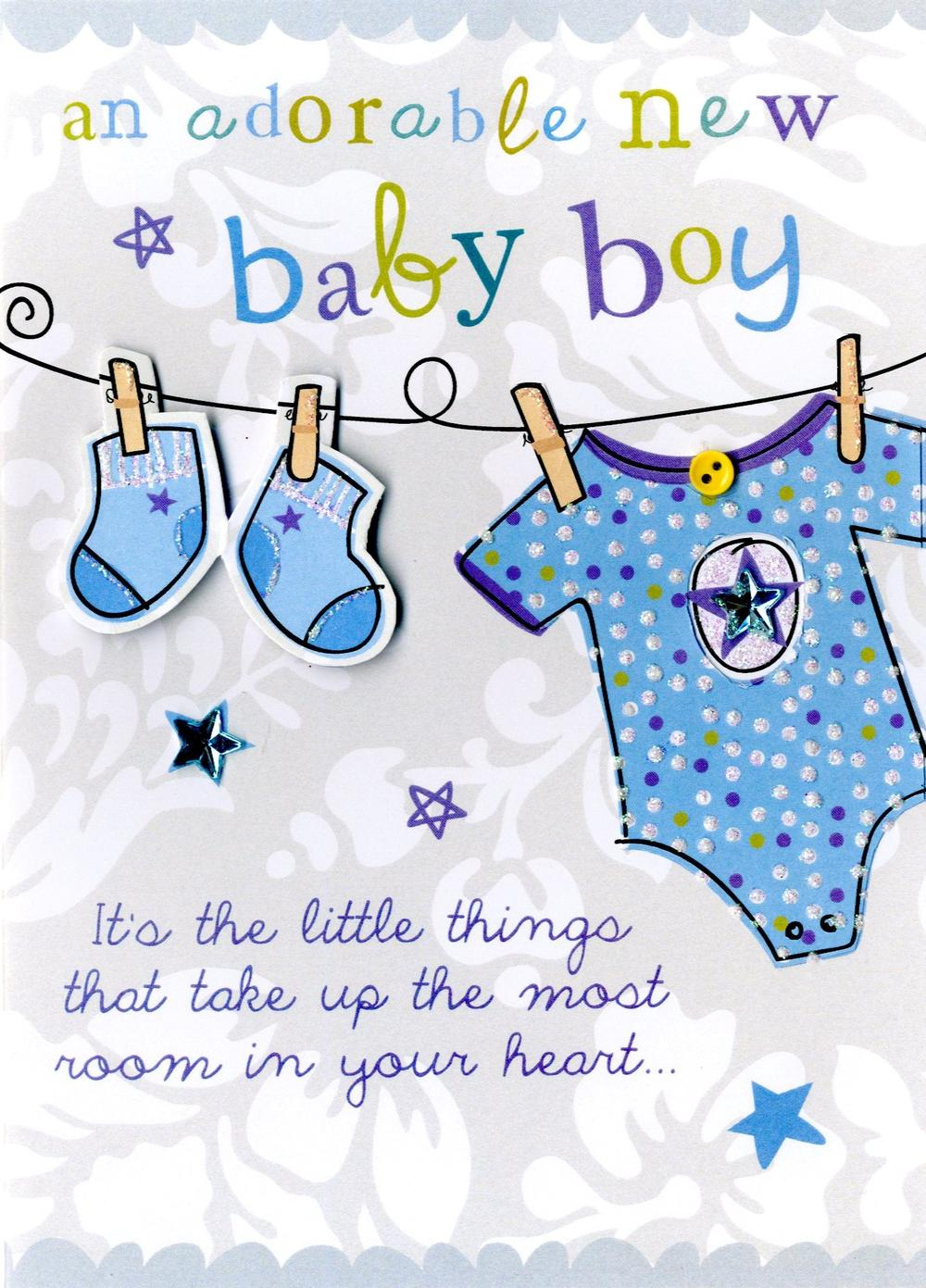New baby boy greeting card cards love kates new baby boy greeting card m4hsunfo