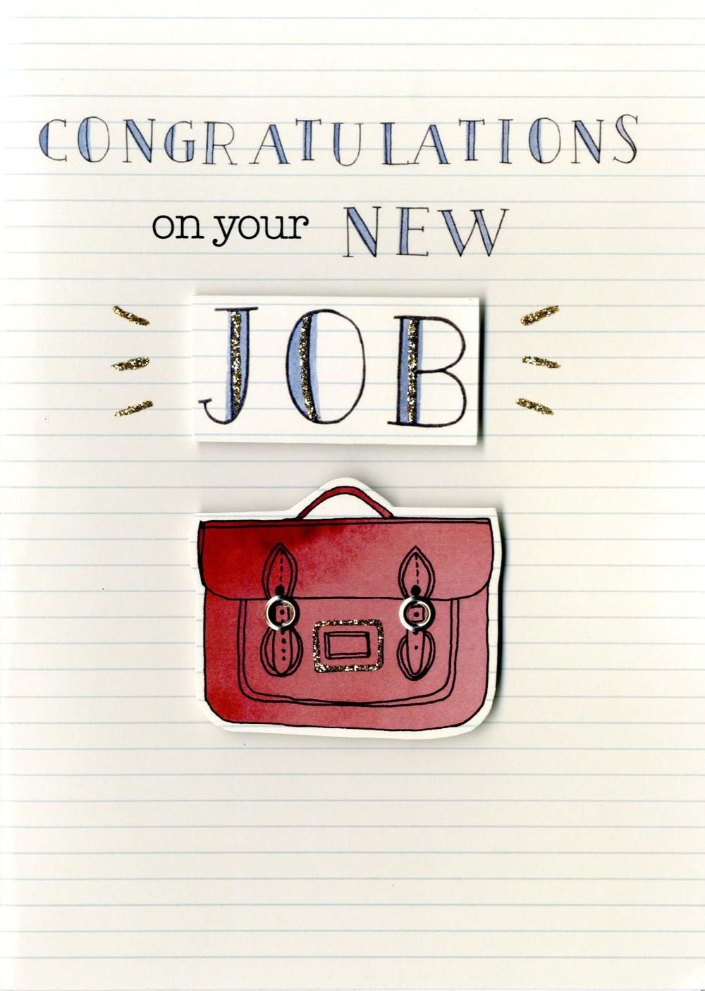 New Job Congratulations Greeting Card