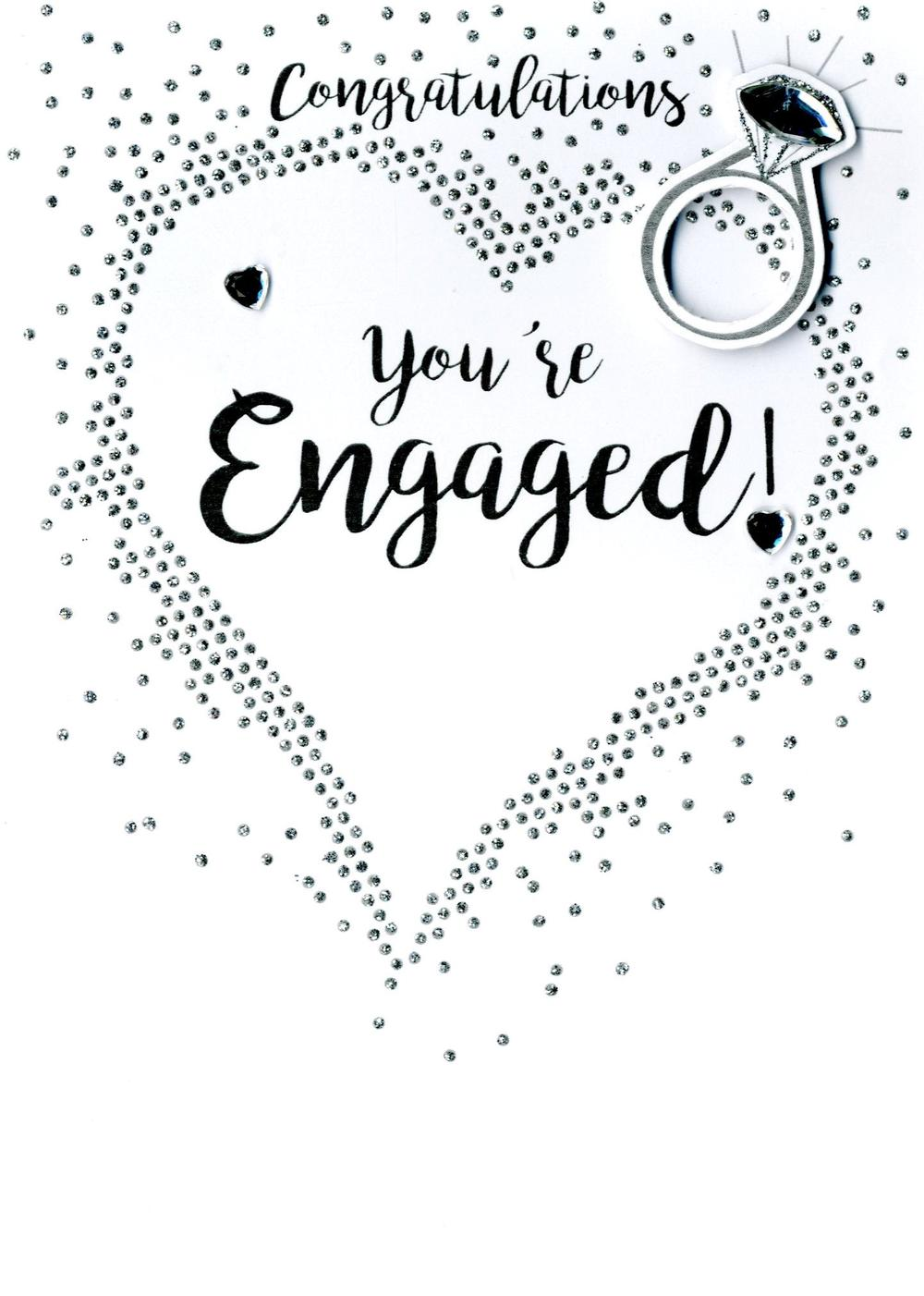 You're Engaged Engagement Greeting Card