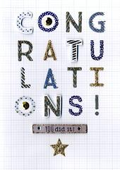 Congratulations You Did It Greeting Card
