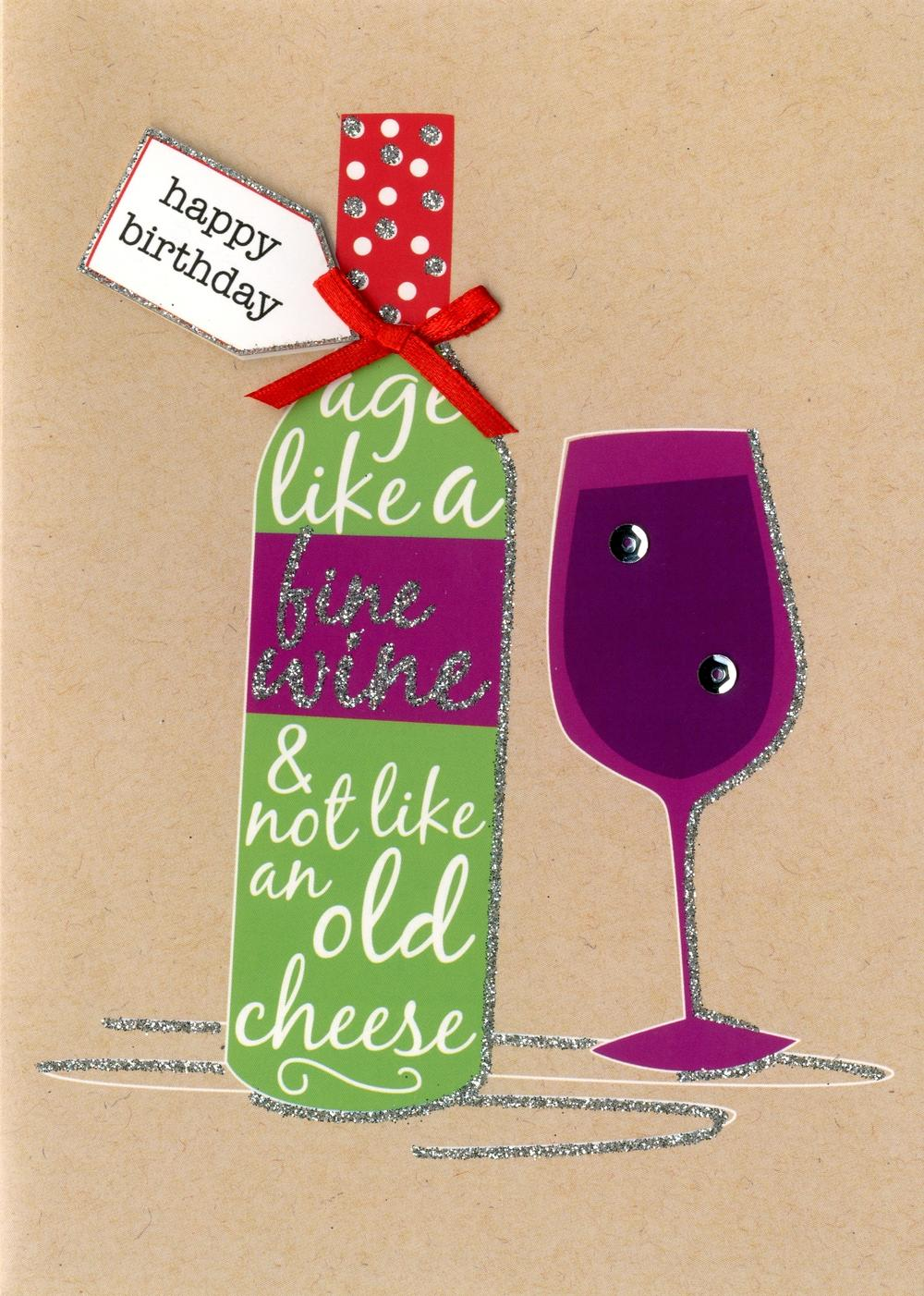 Happy Birthday Fine Wine Greeting Card