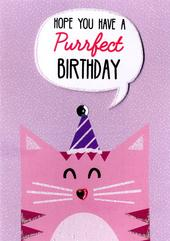 Purrfect Birthday Greeting Card