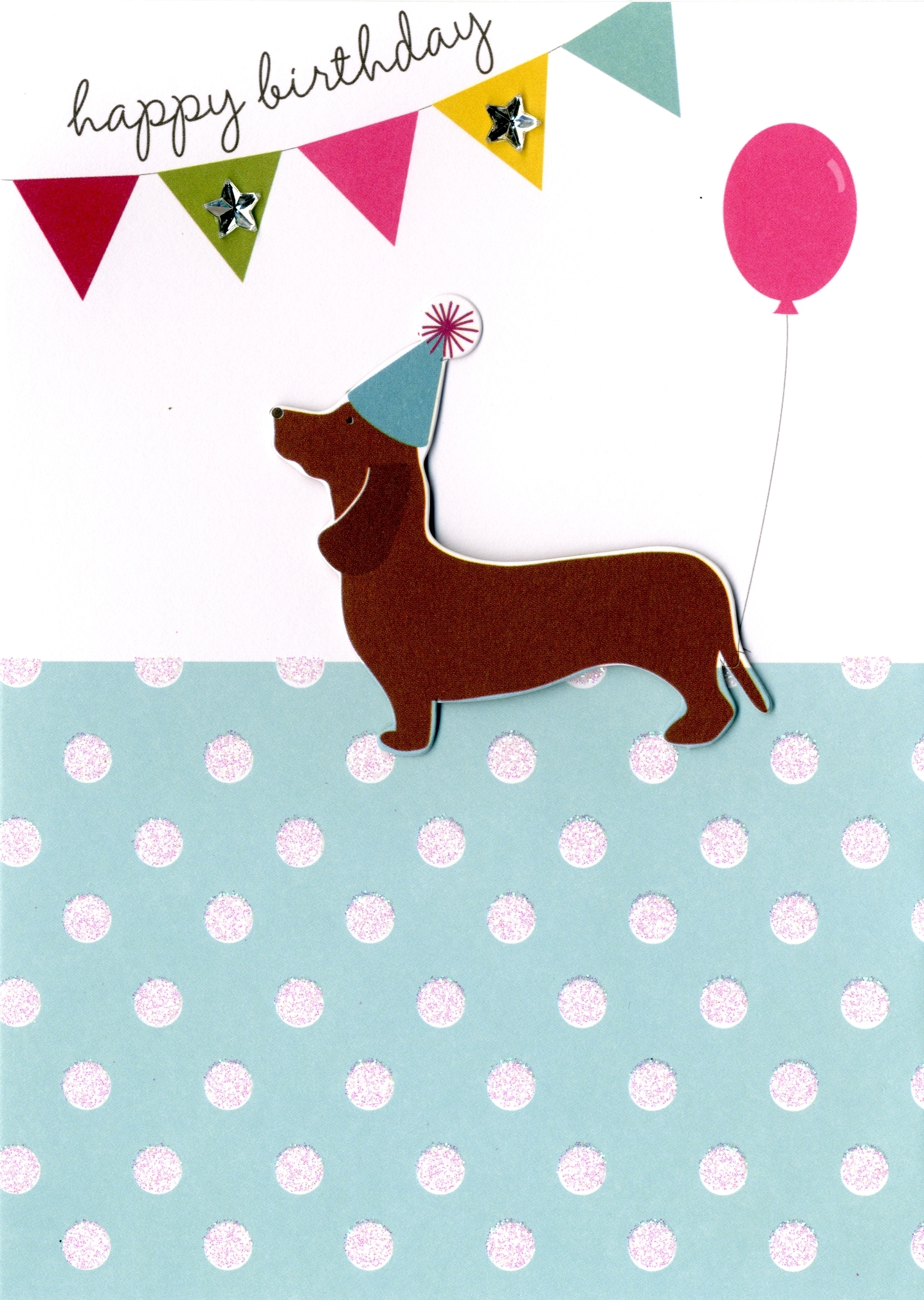 happy birthday sausage dog greeting card cards love kates online gift shop online card shop. Black Bedroom Furniture Sets. Home Design Ideas
