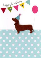 Happy Birthday Sausage Dog Greeting Card