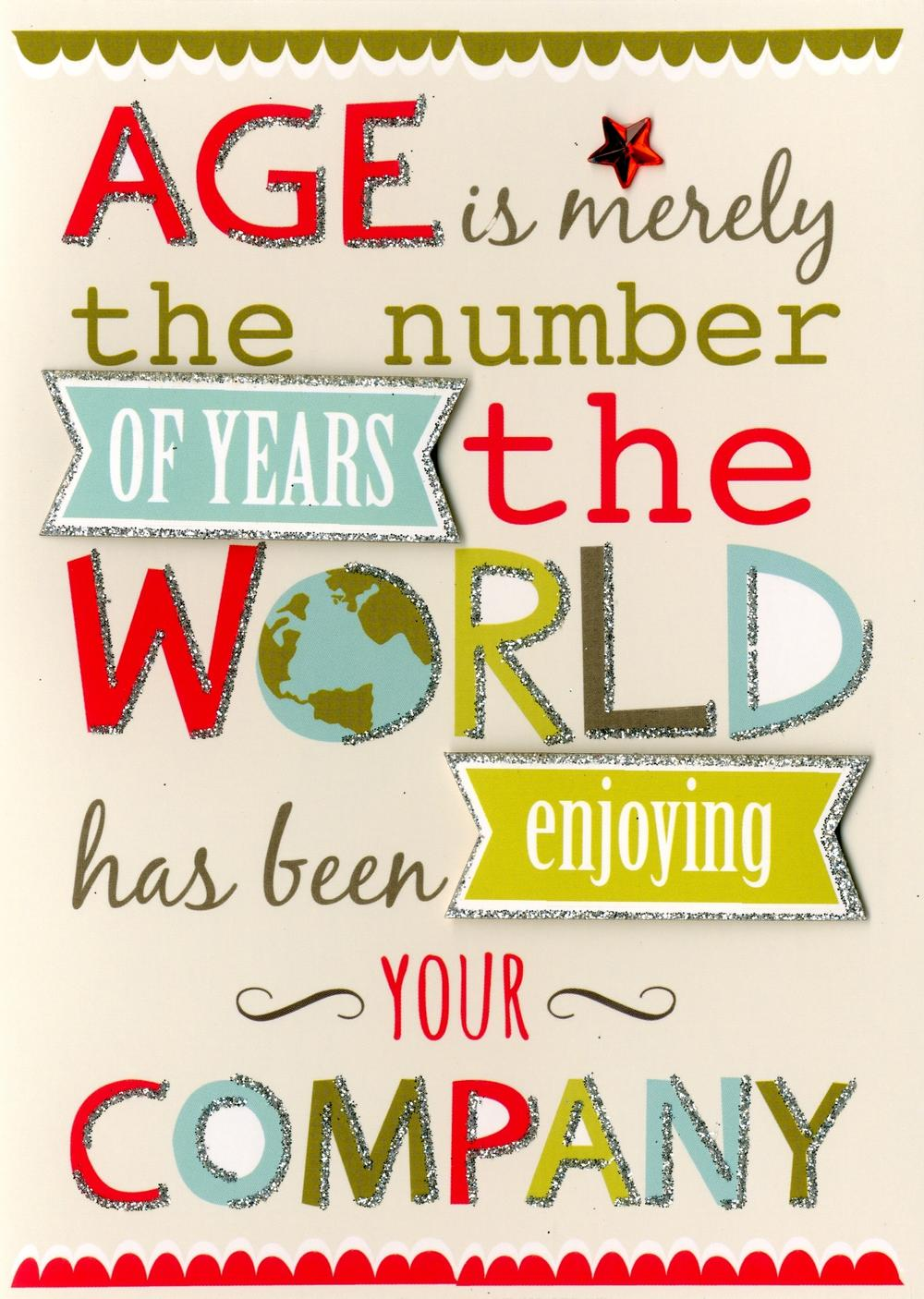 Birthday Age Is Greeting Card