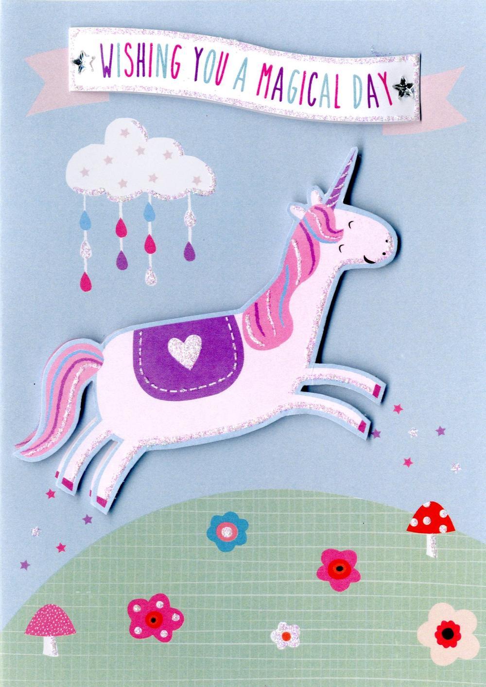 Magical Unicorn Birthday Greeting Card