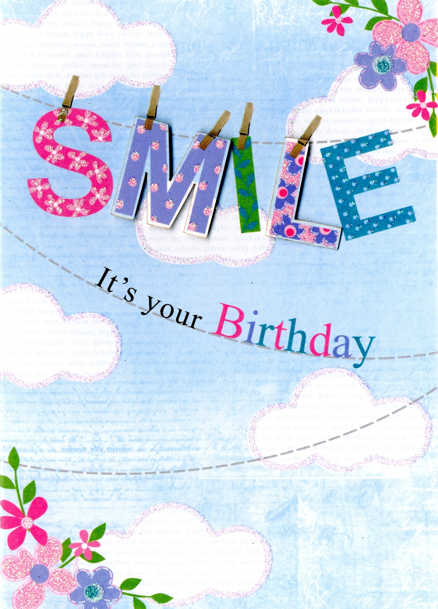 Smile Its Your Birthday Greeting Card Cards Love Kates