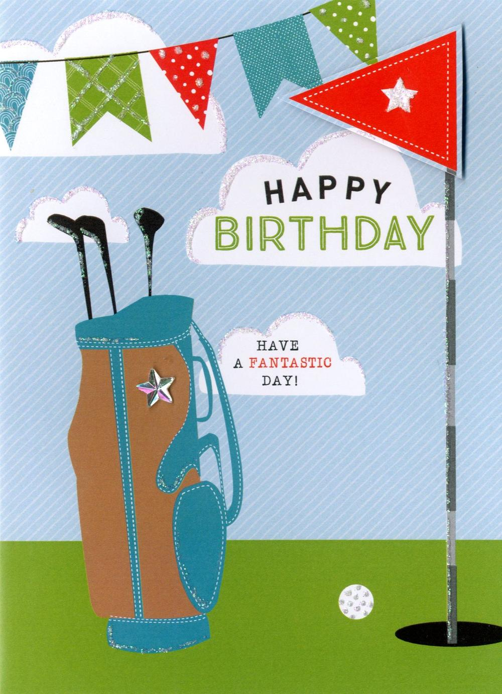 Happy Birthday Golf Greeting Card