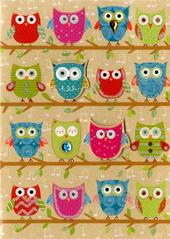 Owls Greeting Card Blank Inside