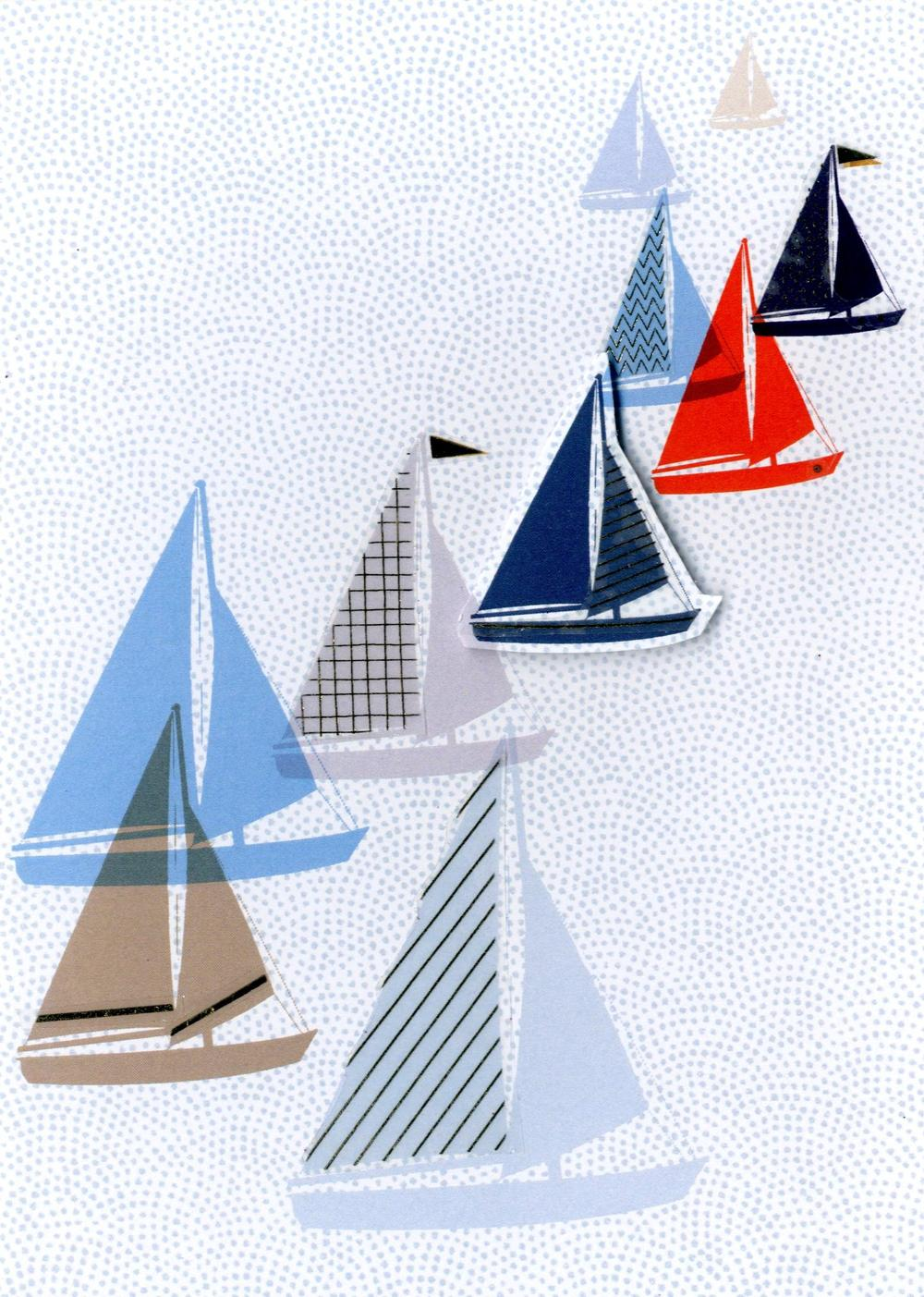 Yachts Greeting Card Blank Inside