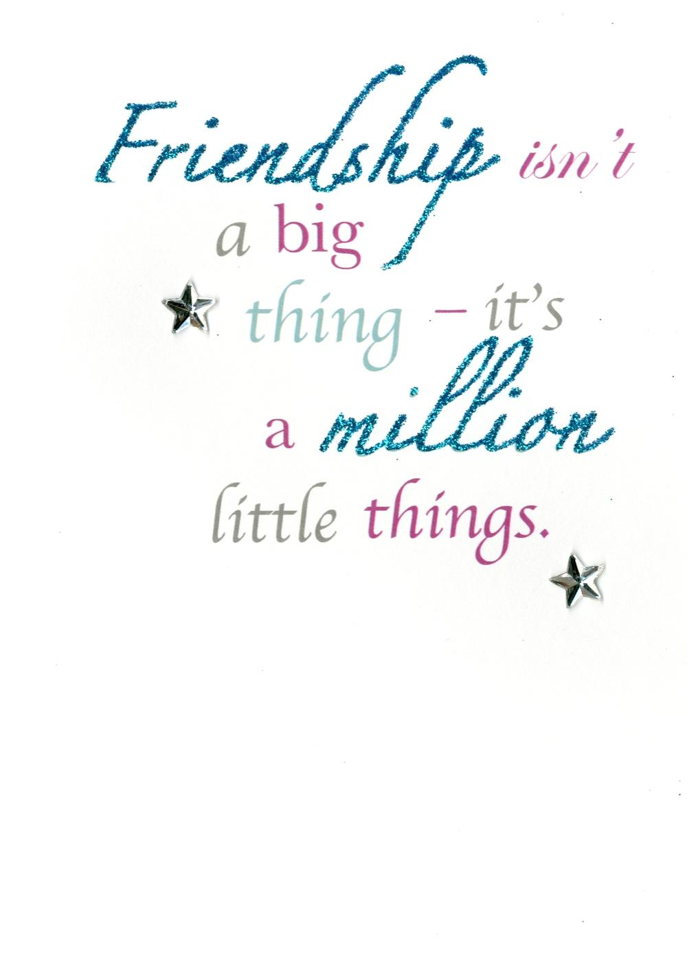 Friendship Greeting Card Blank Inside