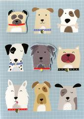 Dogs Greeting Card Blank Inside