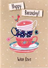 Teacup Happy Birthday Greeting Card