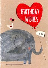 Elephant Birthday Wishes Greeting Card