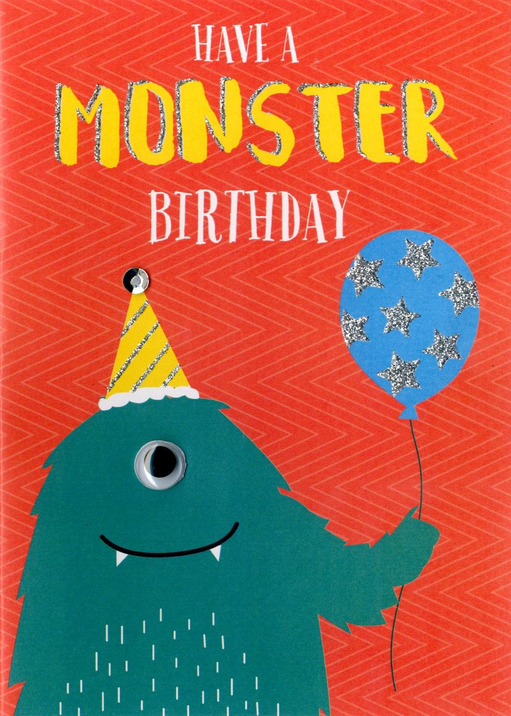Have A Monster Birthday Greeting Card