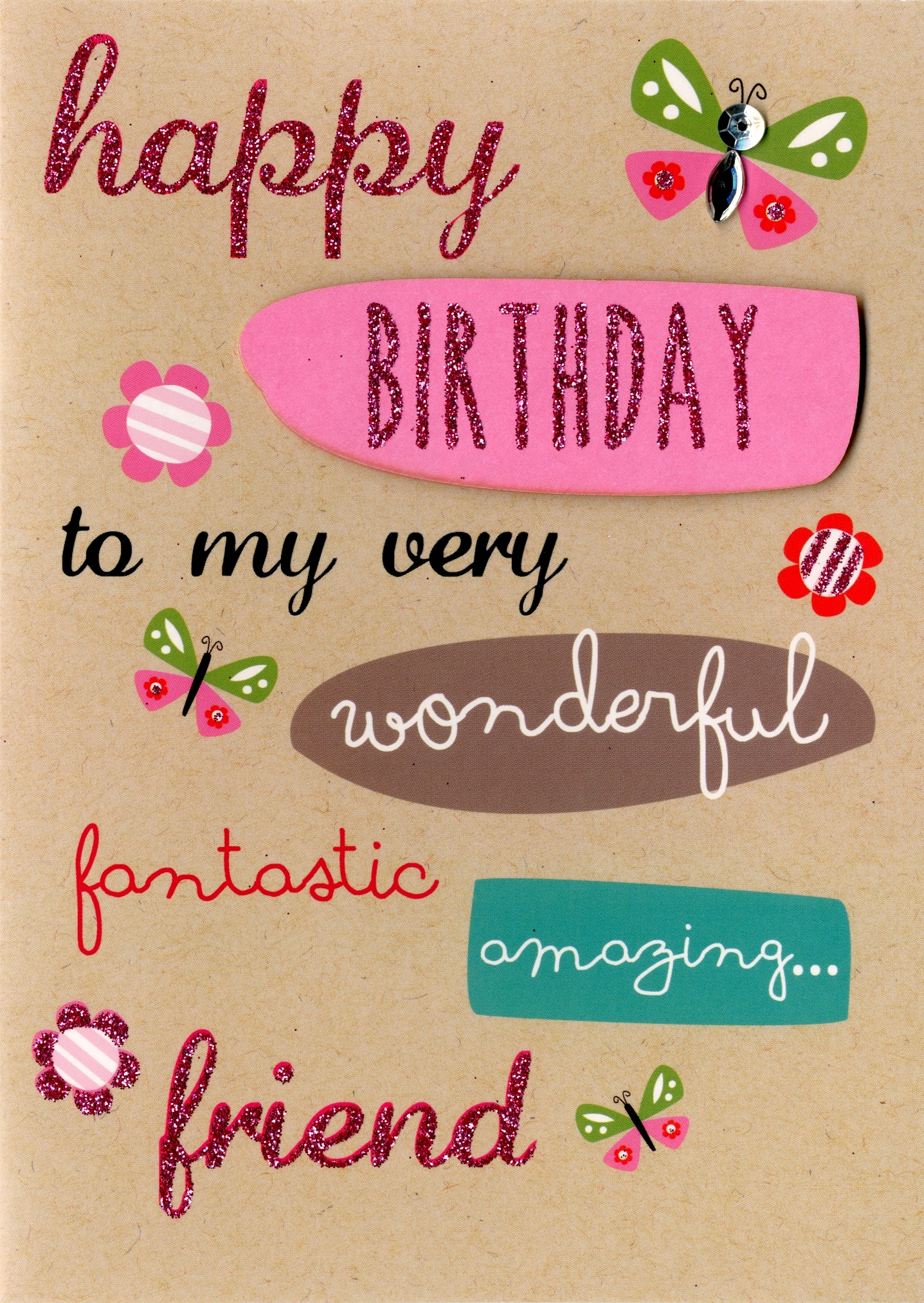 Friend birthday greeting card cards love kates friend birthday greeting card m4hsunfo