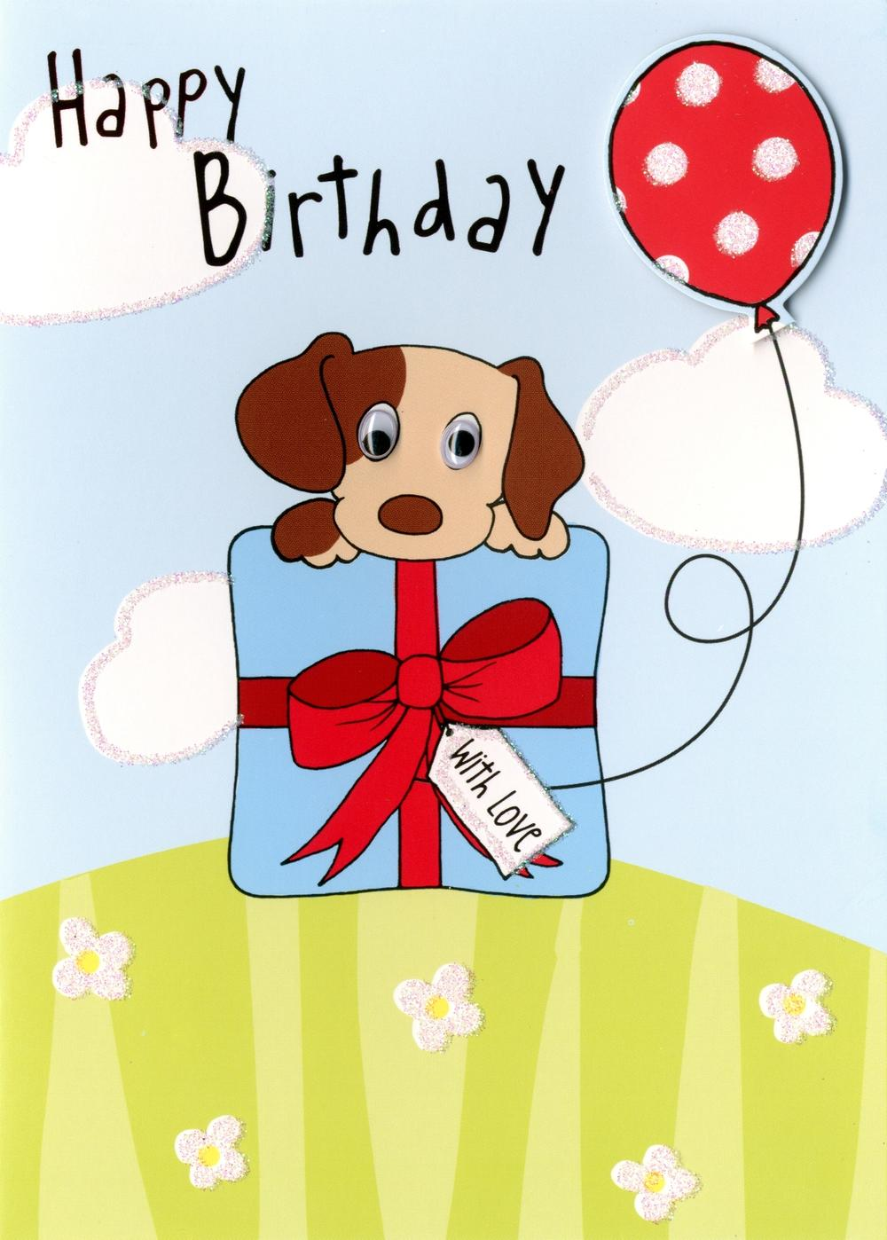 Happy Birthday Puppy Dog Greeting Card