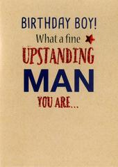 Funny Birthday Boy Greeting Card