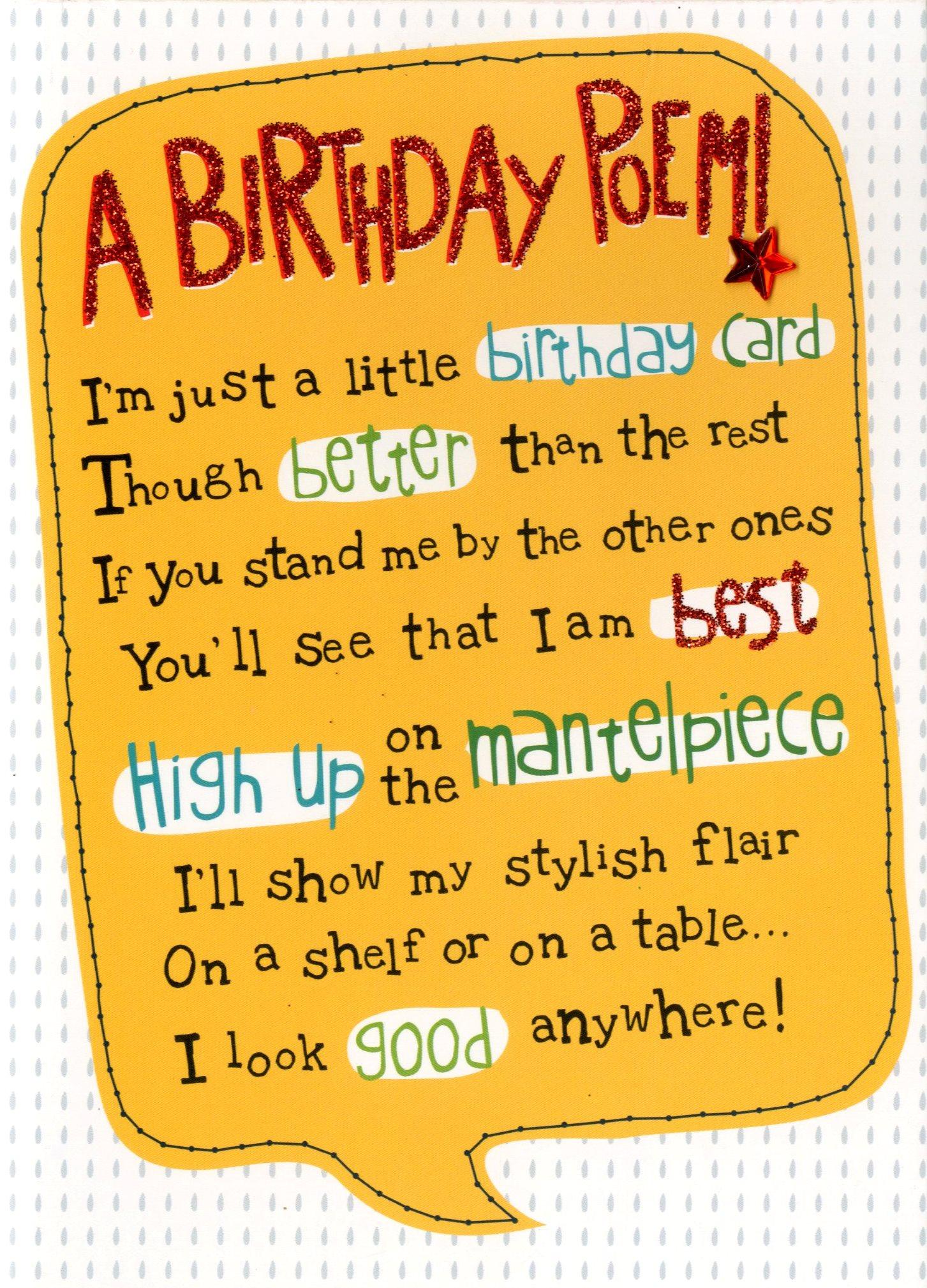 A birthday poem greeting card cards love kates a birthday poem greeting card m4hsunfo