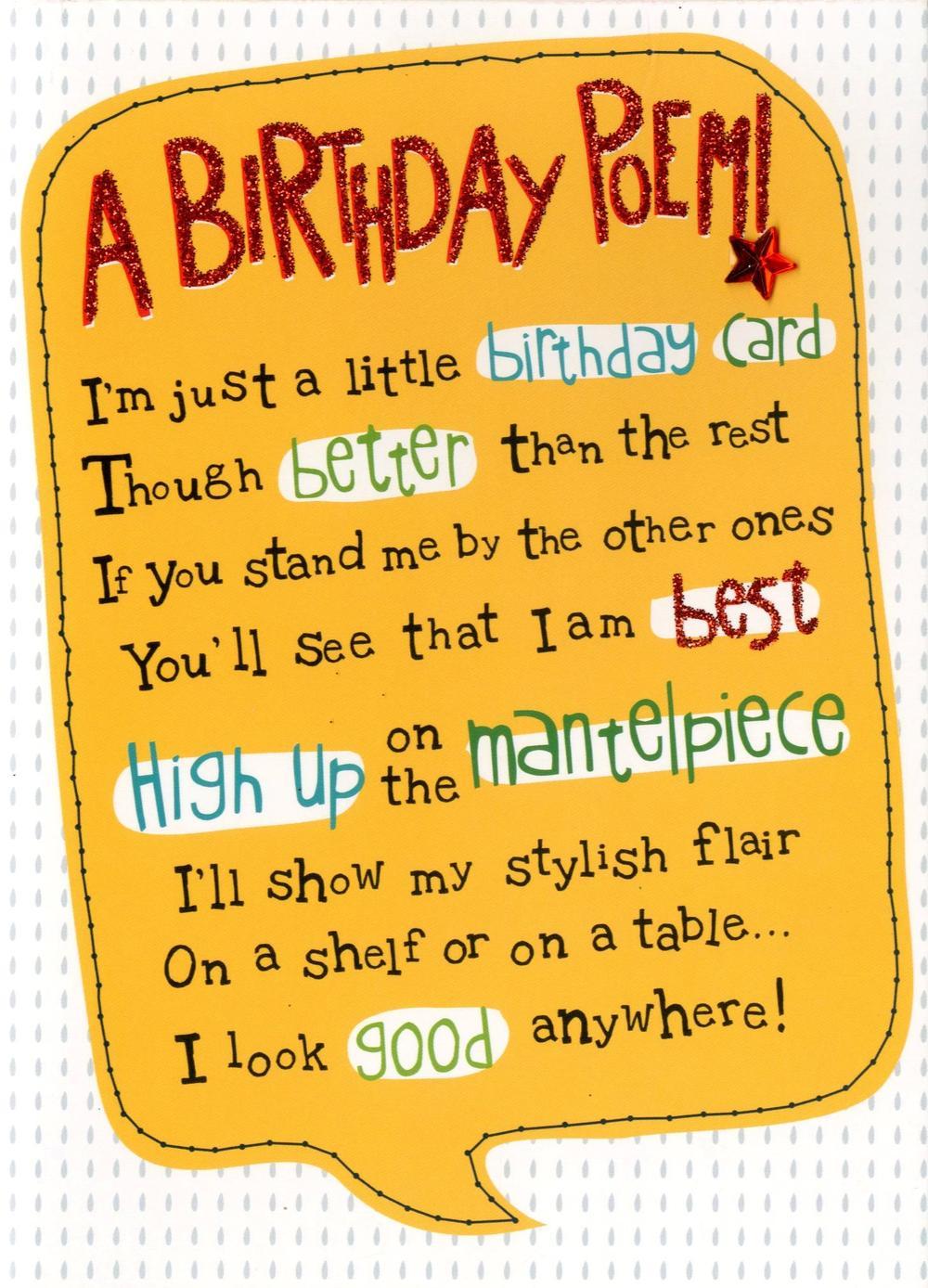 A Birthday Poem Greeting Card
