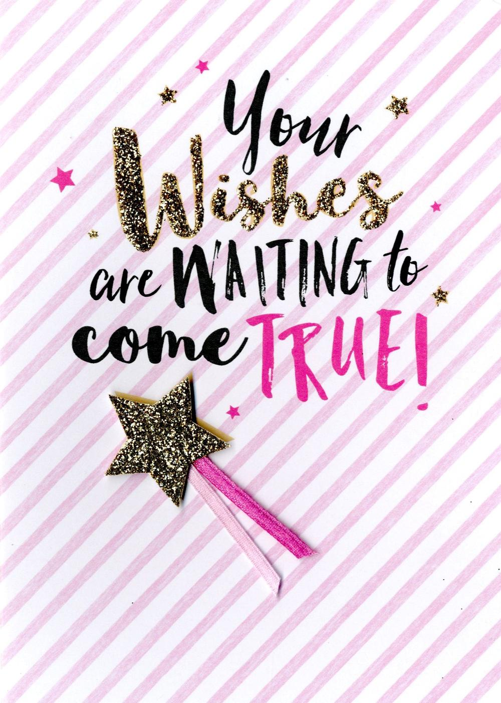 Wishes Come True Greeting Card Blank Inside