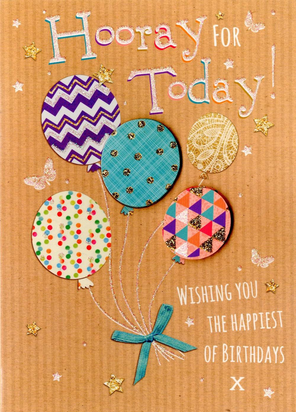 Hooray For Today Birthday Greeting Card