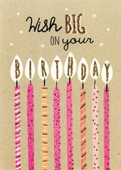 Wish Big Birthday Greeting Card