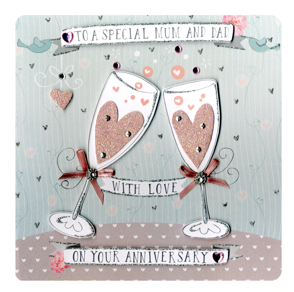 Mum & Dad Anniversary Keepsake Card