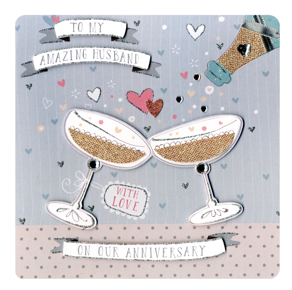 Husband Anniversary Keepsake Card