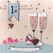 Your 1st Anniversary Keepsake Card