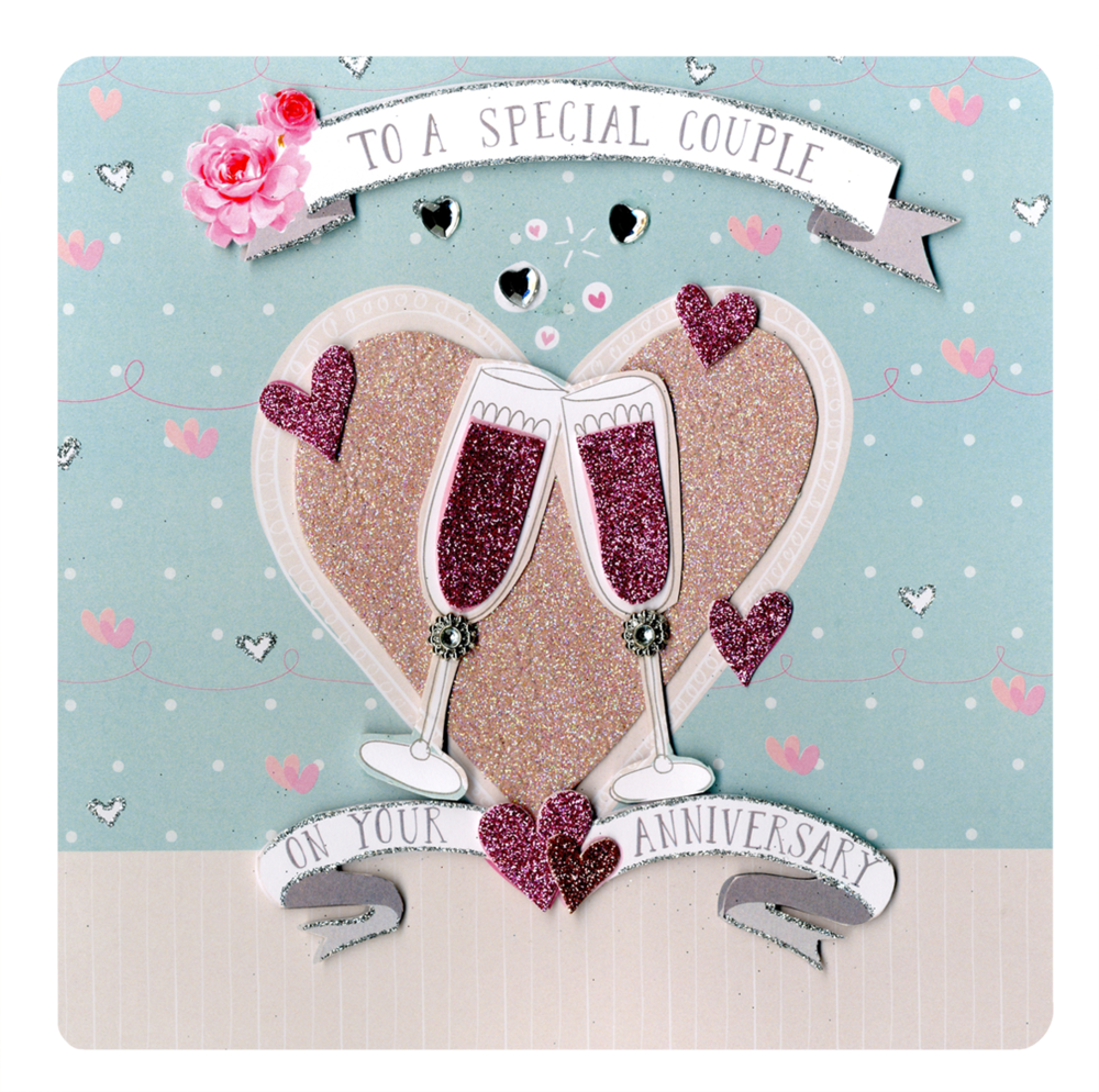 Special Couple Anniversary Keepsake Card