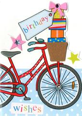 Bike Birthday Wishes Greeting Card