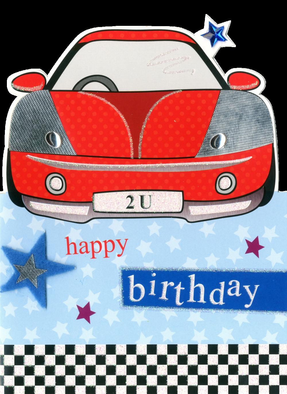 Car Happy Birthday Greeting Card
