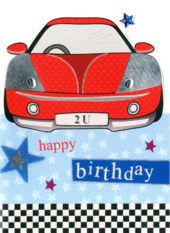 Car Happy Birthday Greeting Card