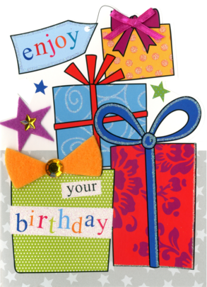 Enjoy Your Birthday Greeting Card