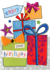 Enjoy Your Birthday Greeting Card