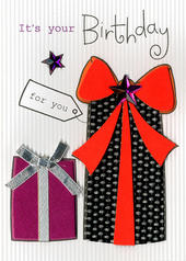 It's Your Birthday Embellished Greeting Card