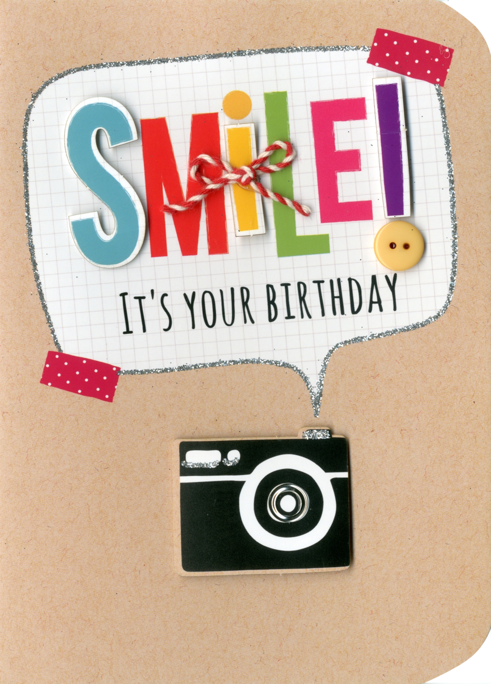Smile It's Your Birthday Embellished Greeting Card